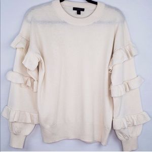 J. Crew Ruffle sleeve sweater